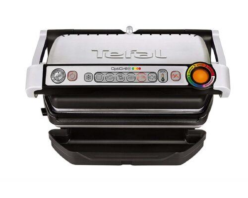 Tefal OptiGrill GC712D Kontaktgrill Plus-Modell schwarzsilber *NEU/&OVP* ✔️