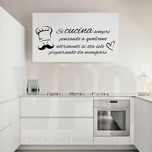 Wall stickers frasi si cucina sempre pensando a qualcuno - Wall stickers per cucina ...