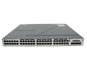 Cisco-WS-C3750X-48PF-S-48-Port-Gigabit-POE-Switch-w-C3KX-NM-1G-amp-AC-Power