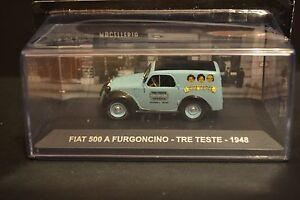 FIAT 500 A FURGONCINO 1948-1:43 DIECAST ITALIAN TRUCK MODEL IXO C66