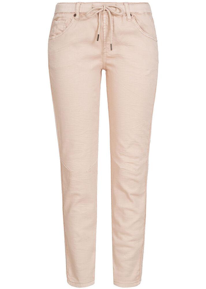 50% Off B18010121 Femmes Eight 2 Nine Pantalon Sweat Pant Jeans 5 Poches Taille élastique Rose