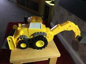 Bob-Builder-Completo-The-Throttle-Scoop-GIALLO-Digger-senza-telecomando