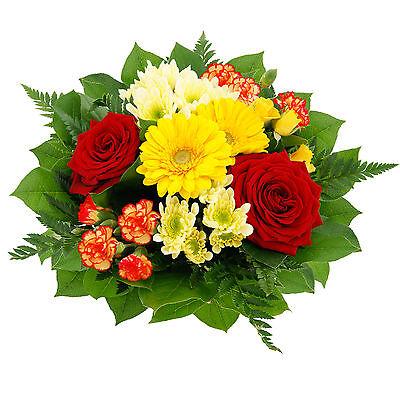"""***Blumenversand*** Blumenstrauß """"Blütentraum"""", rot-gelber Blumengruß"""