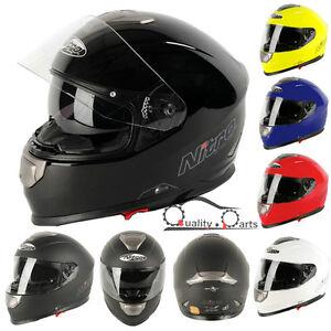 Nitro Np 1100f Apex Racing Dvs Motorbike Motorcycle Helmet With