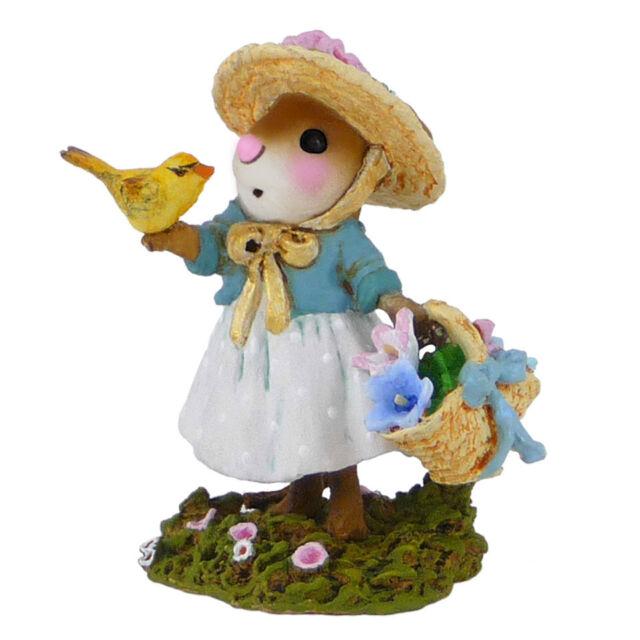 Wee Forest Folk Miniature Figurine M-321c - Sweet Songbird