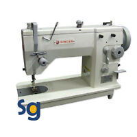 Singer 20u-109 Industrial Zig Zag Sewing Machine With Stand And Servo Motor