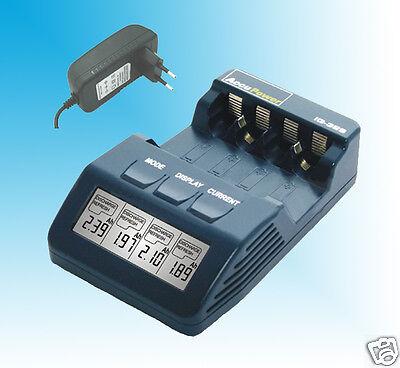 Europlug AccuPower IQ328 Charger Analyzer Tester AA AAA NiMH NiCd Europlug