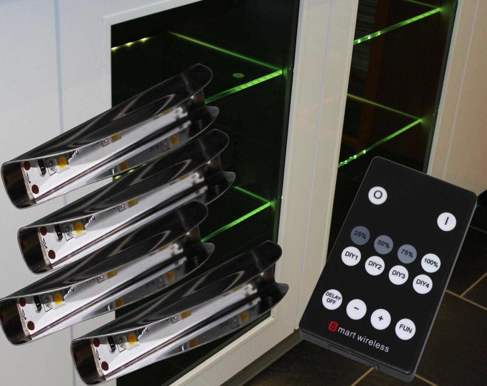 LED Glaskantenbeleuchtung Glasbodenbeleuchtung Dimmbar Funk Mod. 2275-76 4154möb