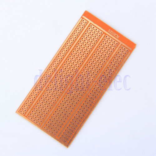 10X Prototype Single Side PCB Printed Circuit Board 2-3-5 Joint Holes 5X10CM DE