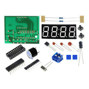 C51-4-bits-digital-7-segment-led-electronic-clock-DIY-kit-set