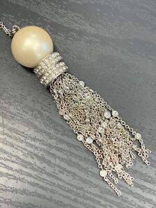 Ladies-Vintage-Quality-Silver-Crystal-Charm-Pearl-Tassel-Necklace-36