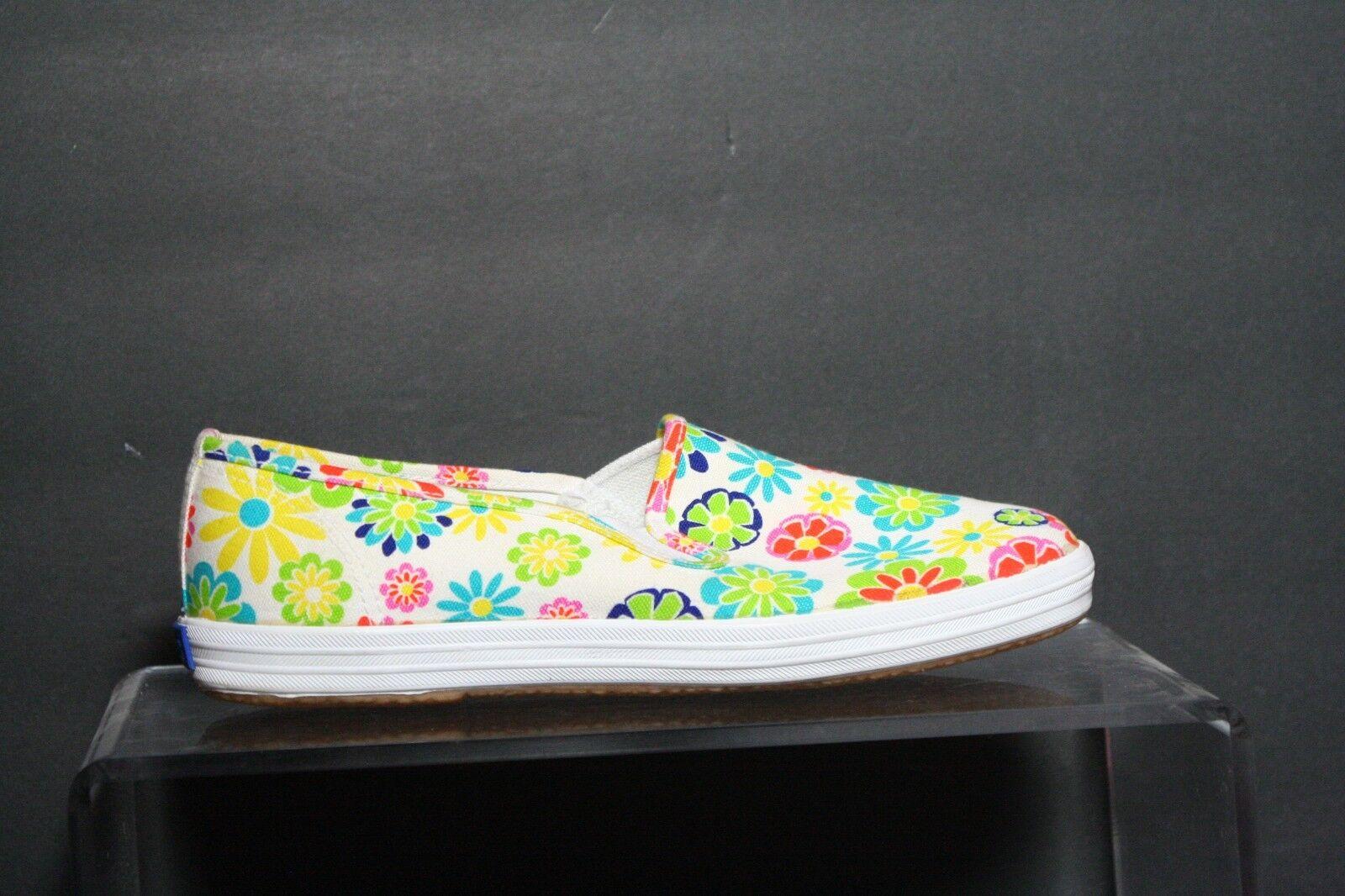 Keds Vintage Retro Sneaker Multi Neon Flowers Athletic Hip Women 7.5 Canvas EUC