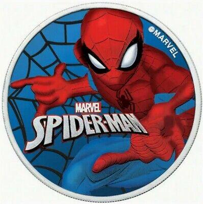 Box /& COA 2018 Tuvalu Marvel Deadpool Colorized Ruthenium 1oz .999 Silver Coin