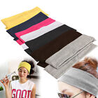 2pcs Women Wide Sports Yoga Headband Stretch Hairband Elastic Hair Band Turban