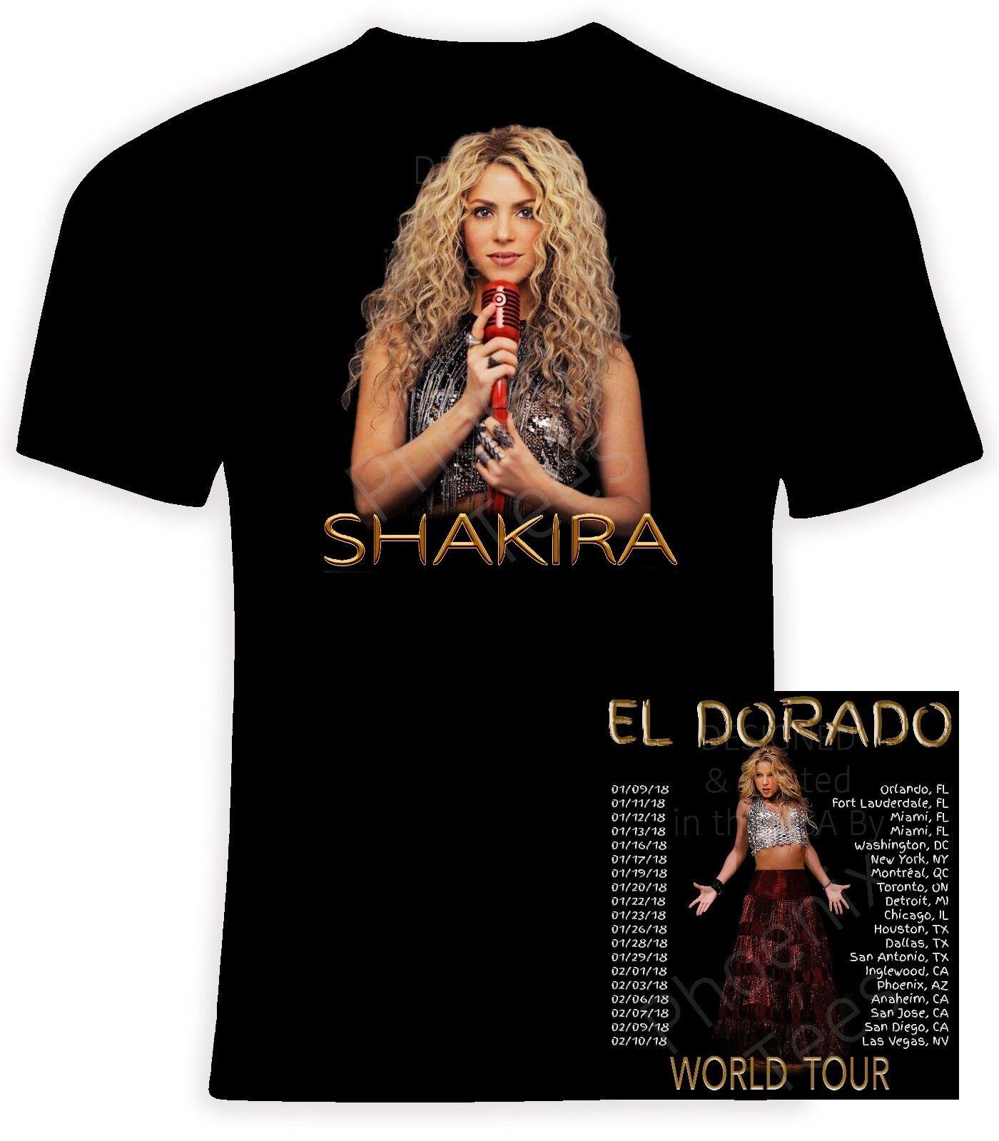 Shakira 2018 El Dorado World Tour Unisex T shirt, Größes S-6X