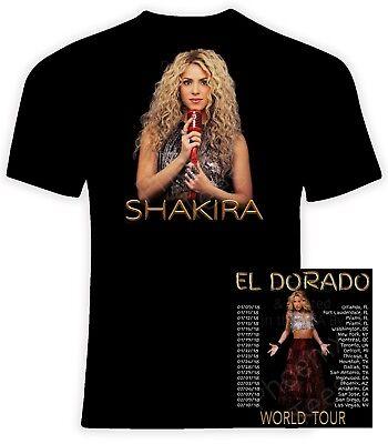 Sizes S-6X Shakira 2018 El Dorado World Tour Unisex T shirt