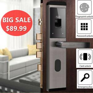 NEW Smart Keyless Door Lock Security Electronic Password Keypad Card Fingerprint
