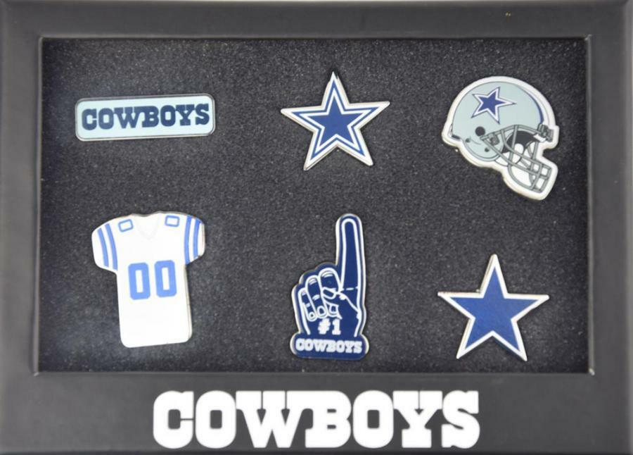 Forever Collectibles Dallas Cowboys 6 piece pin badge set pin nfl new