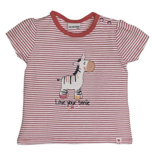 Salt and pepper fille Baby-T-shirt zèbre rayé Love Summer Pink