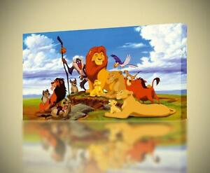 Details About The Lion King Simba Mufasa Canvas Print Home Wall Decor Giclee Art Disney Ca592