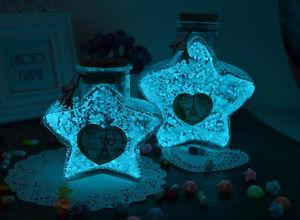 Graniglia sabbia in vetro che si illumina al buio per bottigliette o ciondoli