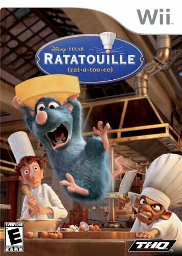 Nintendo Wii Ratatouille COMPLETE with, child's free ticket, and manual