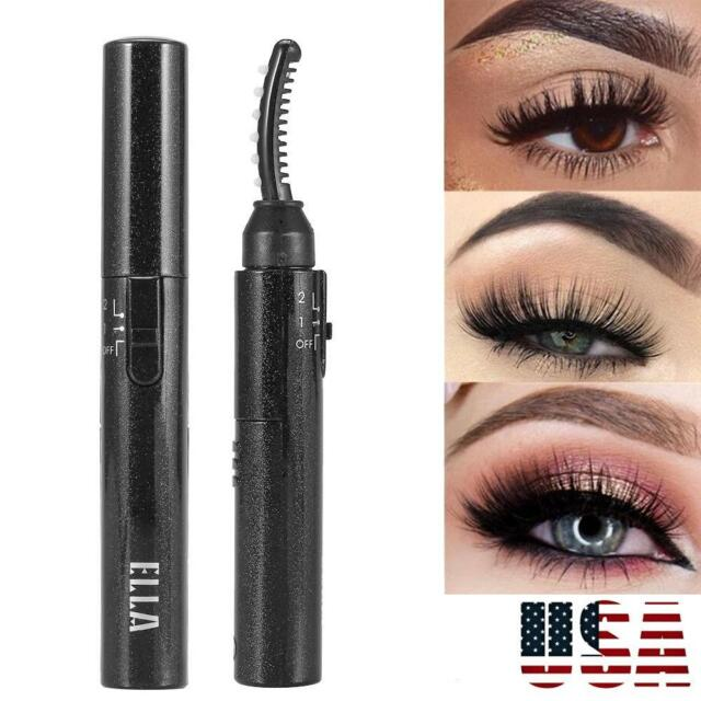 126d1111e33 Electric Heated Eyelash Curler Long Lasting Natural Makeup Eye lashes  Curling