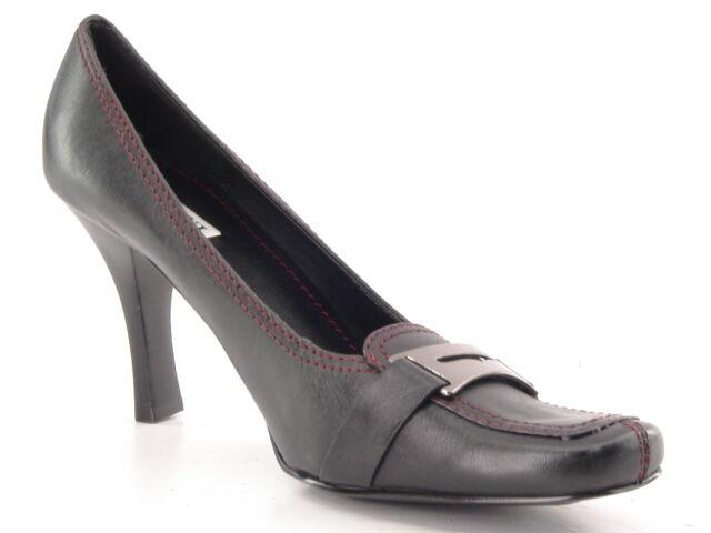Nuevo Mujeres Cuero Negro High Alfani Zapato Infierno Zapato Alfani Mocasín Bomba De Vestido Formal Talla 8.5 M 459d44