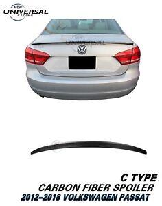 Carbon-Fiber-Trunk-Spoiler-For-2012-2018-VW-Volkswagen-Passat-Sedan-4dr-Type-C
