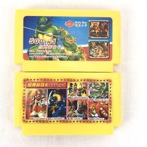 Vintage-Super-Nintendo-Games-Japan-500-In-1-amp-150-In-1-SNES-Bulk-Lot-X2-SNES