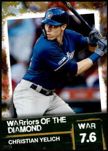 Christian-Yelich-2020-Topps-WARriors-of-the-Diamond-5x7-Gold-WOD-36-10-Brewers