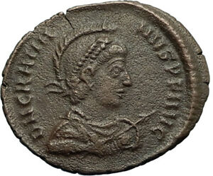 GRATIAN-on-Galley-w-Victory-Original-378AD-Authentic-Ancient-Roman-Coin-i66489