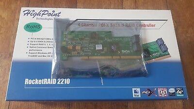 4 Porta Sata Pci-x 64bit 133 Mhz Raid Highpoint Rocketraid 2210-