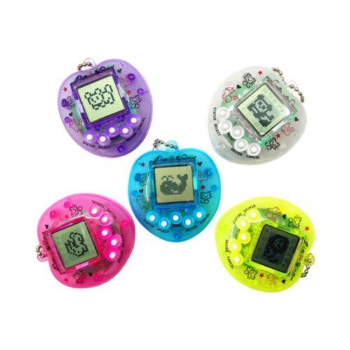 Virtual Digital Pet LCD Electronic Game Machine With Keychain Cute Heart Shape