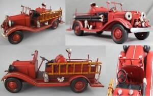 Vintage - Feuerwehr Auto Im Antik Stil - Ca. 25x10x10 Cm. - Ca. 510 Gramm