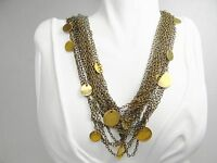 Lena Bernard Outstanding Multi Bronze Chain & Round Charms Gipsy Necklace