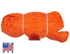 Usa Domestic 10 Orange Endless Round Lifting Sling Crane Rigging Recovery