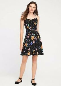 10a1b615c4f5d Details about NWT Old Navy Womens Fit & Flare Cami Dress XS or S Black  Floral $29.99 Summer