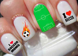 Soccer Nail Art Stickers Transfers Decals Set Of 46 Ebay