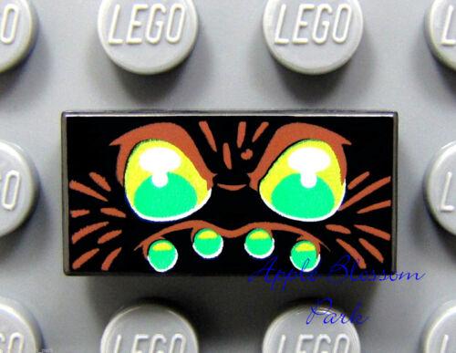 Nuevo patrón de ojos Lego Araña 1x2 Negro-Amarillo Verde De Azulejo Impreso cabeza//rostro