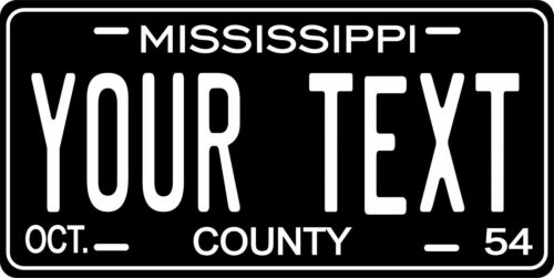 Mississippi 1954 Plate Personalized Custom Car Bike Motorcycle Moped Tag
