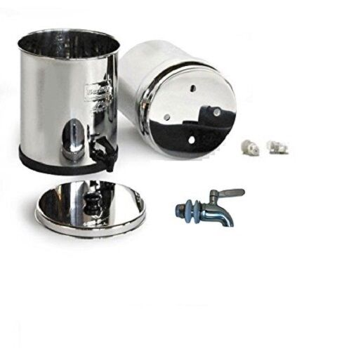 Crown Berkey Water Filter WITHOUT Filters Stainless Steel Spigot
