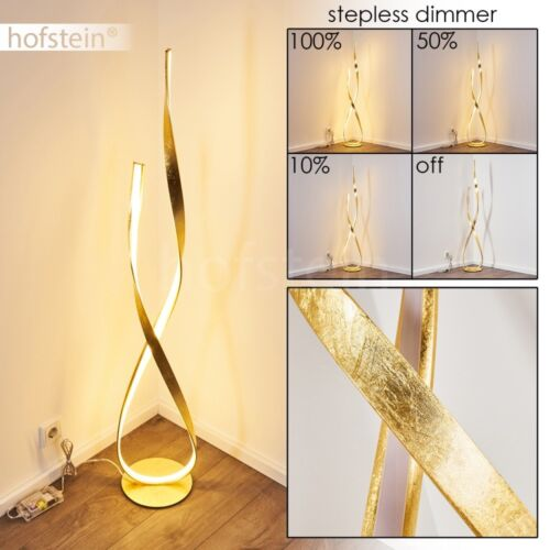 LED Dimmer Wohn Schlaf Zimmer Beleuchtung edle Steh Boden Stand Lampe goldfarben