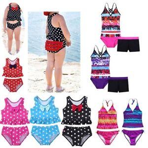 2pcs Kids Baby Girls Polka Dot Cross Stripe Bikini Swimwear Swimsuit Bathing Suit Beachwear Sleeveless Tops Shorts Outfits 1-6t Engagement & Wedding