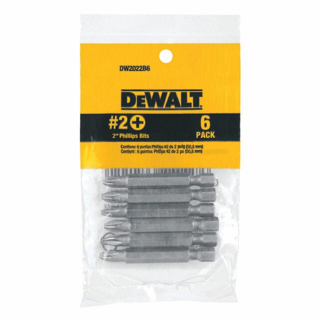 DEWALT DW2022B6 #2 Drill Bits 6 Pack