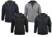 Stanzino Men's Sherpa Lined Hoodie Sweater Jacket