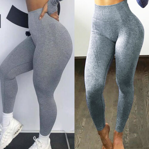 Women Yoga Pants Seamless High Waist Push Up Camo Workout Ruched Leggings HOTUS