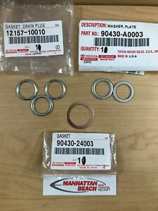 GENUINE TOYOTA FRONT DIFFERENTIAL & TRANSFER CASE DRAIN & FILL PLUGS ASKET SET