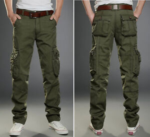NEW Men's MILITARY cargo camo army green combat pants style ...