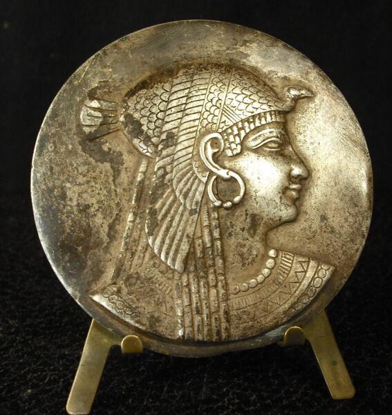 100% De Qualité Médaille Xix Th Profil De Déesse égyptienne Egypte Egypt Goddess Medal 铜牌 125g